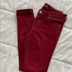 Women's Express Wine Red Jeans
